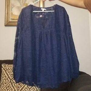 Long sleeve navy blue